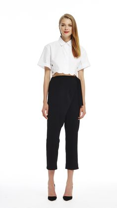 Ball Boy Cropped Shirt - alice McCALL