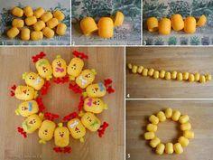 DIY Kinder eggs Easter chicks