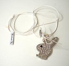 Handmade Jewelry Rg: Necklace Playboy Strass