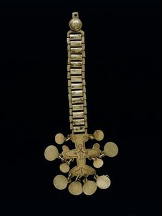 Silver gorget & pin, Mapuche culture; Valdivia region, Chile.  Peabody Museum, Online Collection.