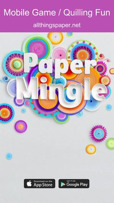 Paper Mingle is a mobile game (free download). Artist Yulia Brodskaya introduces it in this spotlight post. #QuillingArt #PaperArt #PaperMingle Quilling Videos, Paper Quilling, Yulia Brodskaya, Art Optical, Paper Artist, Paper Jewelry, Game App, Mobile Game, Kind Words
