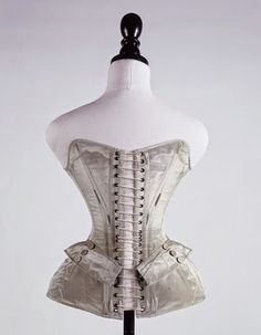 Blue silk corset, 1851   In the Swan's Shadow