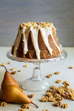 Roasted Pear and Walnut Spice Cake Bundt   Brooklyn Homemaker