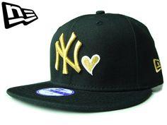 """【ニューエラ】【NEW ERA】9FIFTY キッズサイズ NEW YORK YANKEES """"NY"""" HEART ブラックXゴールド【SNAPBACK】【スナップバック】【CAP】【newera】【帽子】【金】【KID'S SIZE】【子供用】【ハート】【黒】【GOLD】【ボーイズ】【ガールズ】【youth】【あす楽】【楽天市場】"""