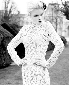 Avant-Garde Boho Chic Hollywood Glam Shabby Chic Vintage Ivory White $$$$$ - $5001 and up Berta Fit-n-Flare Floor High Neck Illusion Sleeves Illusion Lace Long Sleeve Mermaid/Trumpet Wedding Dresses Photos & Pictures - WeddingWire.com