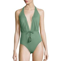 Lazul Women's Caius Phoenix One-Piece Swimsuit (€265) ❤ liked on Polyvore featuring swimwear, one-piece swimsuits, apparel & accessories, multicolored, tie-dye bathing suits, 1 piece bathing suits, ruched swimsuit, halter bathing suit and ruched one piece bathing suit