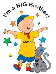 Caillou BIG Brother and Birthday Shirts Personalized FREE for your loved ones from HappyToBee. $14.00, via Etsy.