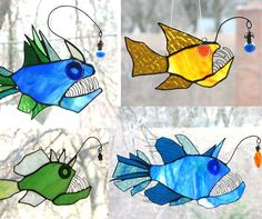 Love this.....   so much better of an idea than the traditional flowery foo-foo stained glass suncatchers  ;0)