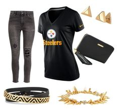 """""""Pittsburgh"""" by tiffany-volkerding on Polyvore featuring NIKE, H&M and Stella & Dot"""