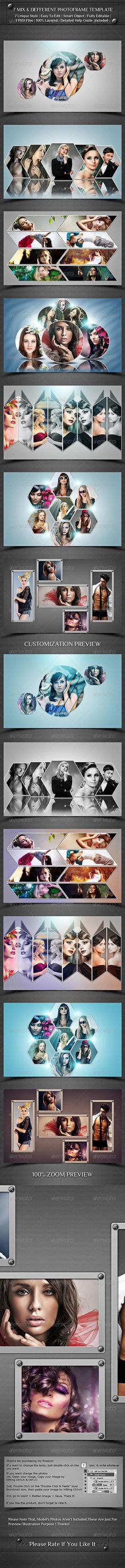 7 Mix And Different Photo Frame Template