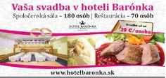 Hotel Bratislava v Rači – Barónka hotel Bratislava, Beef, Wedding, Food, Meat, Valentines Day Weddings, Essen, Meals, Weddings
