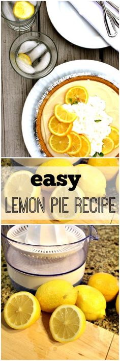Easy and Delicious Lemon Pie Recipe - Refresh Restyle www.refreshrestyle.com #lemonpie #lemonrecipe