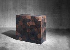 Heinz Baumann, Highboard Pezzo, 2013; Eichenholz, massiv, geräuchert, geseift, © Stefan Rohner Wood Mosaic, Museum, Maker, Concept, Heinz, Table, Design, Furniture, Home Decor