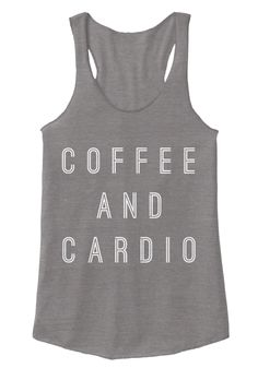 Coffee And Cardio Eco Grey Women's Tank Top Front