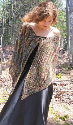 Lady of the Forest by Ilga Leja Handknit Design Knitted Shawls, Crochet Shawl, Crochet Yarn, Shawl Patterns, Knitting Patterns, Crochet Patterns, Lace Patterns, Moda Crochet, Bolero