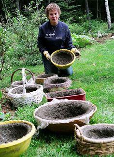 Hypertufa Garden Art | The Shape Of Blooms To Come: Garden Club ...