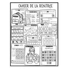 Cahier de la rentrée 1ère année Reading Help, Guided Reading, First Day Of School Activities, School Fun, Teaching French Immersion, Welcome To Kindergarten, Grade 1 Reading, Spiral Math, Schools Around The World