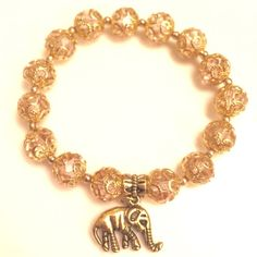 Handmade Crystal Lucky Elephant Charm Bracelet Crystal Lucky Elephant Charm Bracelet. The elephant is a symbol for good luck and warding off evil energy. Brand new Handmade Jewelry Bracelets