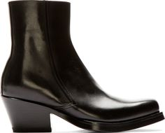 Versace - Black Leather Runway Boots