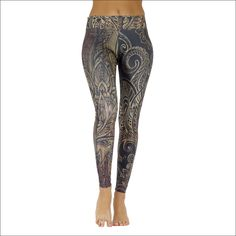"Product information ""Osiris"" ""A beautiful design in a harmonious beige-brown color combination with antique ornaments. Yoga Session, Yoga For Beginners, Beige Color, Yoga Pants, Yoga Leggings, Color Combinations, Poses, Tank Tops, Fabric"