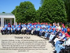 What a great group--it's a joy to honor, support & thank them for their service! http://www.honorflight.org/