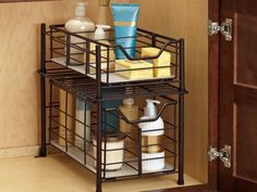shaver basket for bathroom counter - organize and decorate