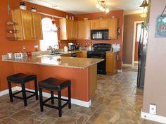 home renovation redo floors painting, flooring, home improvement, kitchen design, tile flooring, tiling, Kitchen