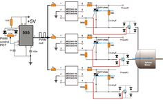 The post explains how to implement a 3 phase induction motor speed controller circuit using a MOC IC and a PWM input instead of using complex matrix type of converter topology Electronic Circuit Projects, Electronic Engineering, Electrical Engineering, Engineering Projects, Solar Projects, Chemical Engineering, Ac Circuit, Simple Circuit, Electrical Circuit Diagram