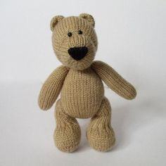 Eddie Bear is knitted for cuddles!THE PATTERN INCLUDES:  Row numbers for each step so you don't lose your place, instructions for making the bear plus 18 photos, a list of abbreviations and explanation of some techniques, a materials list and recommended yarns. TECHNIQUES:  All pieces are knitted flat on straight knitting needles.  You will need to cast on and off, knit, purl, work increases and decreases, and sew seams.  This pattern incorporates a three needle join for the legs, and step…