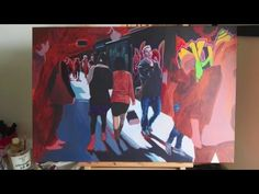 Painting time lapse: 'A Melbourne Alleyway' by Neli Seumanutafa. - YouTube