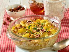 Sauerkraut-Kartoffel-Gratin mit Honig-Nuss-Kruste - Sauerkraut, Acai Bowl, Macaroni And Cheese, Healthy Recipes, Vegetables, Breakfast, Ethnic Recipes, Food, Html