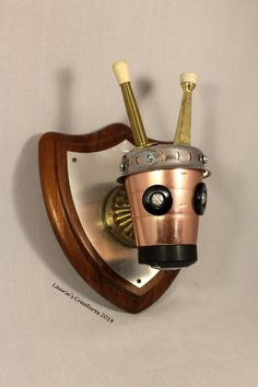 """""""Bucky-O-Swamp"""" ~ Found object/junk art created by Laurie Schnurer in 2014. To purchase one of Laurie's Creatures go to https://www.facebook.com/LauriesCreatures."""