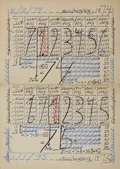 Untitled, 1975, ink, felt tip marker and print on paper, cm.42x29,7