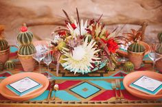 pretty desert inspired tablescape