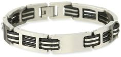 Men's Stainless Steel Bracelet Amazon Curated Collection. $25.00. Stainless steel construction offers lasting shine.. Made in China. Save 29%!