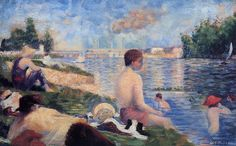 Bathing at Asnieres (study) - Georges Seurat