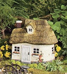 """Resin Fairy Cottage With Turret  Pin from """"Create Your Fairy Best Garden"""" board for a chance to win a fairy cottage and furniture set from Plow & Hearth. Ends 2/13/14"""