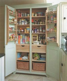 This Standing kitchen storage pantry cabinet pics photos and collection about Standing kitchen storage simple. Free standing kitchen storage cabinets plans white cart ideas pantry units freestanding baskets Standing Kitchen images that are related to it Kitchen Pantry Cupboard, Kitchen Pantry Design, Kitchen Cabinet Storage, Kitchen Units, Pantry Diy, Pantry Ideas, Cabinet Space, Storage Cabinets, Kitchen Decor