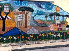 Outside wall mosaic