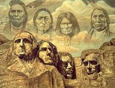 Mt Rushmore as it should be  (Unable to locate the artist, but will post as soon as I can)
