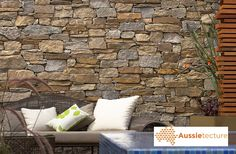 Aussietecture natural stone supplier has a unique range natural stone products for walling, flooring & landscaping. Stone Wall, Granite Stone, Stone, Magical Home, Stone Veneer Wall, Stone Wall Cladding, Stone Supplier, Walling, Natural Stones