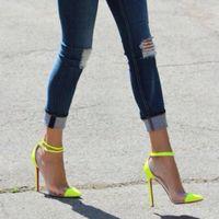 Neon PVC high heels