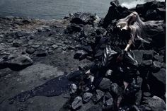 The génial Steven Meisel for Vogue Italia. I fell in love with the oil spill series. Such truth and pain.