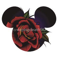 Disney - Mickey Mouse Rose Tattoo