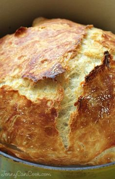Faster No Knead Bread recipe from Jenny Jones (JennyCanCook.com) - Anyone can make this crusty loaf – it's foolproof.