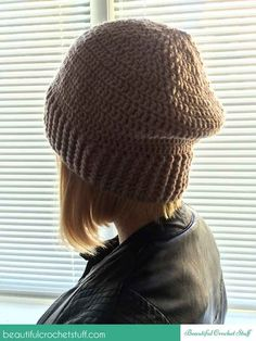 How to crochet a beanie (hat) + free pattern