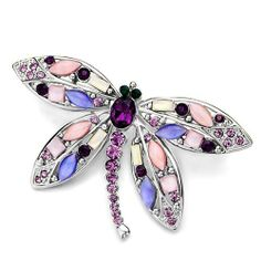 Pugster Dragonfly With Purple Swarovski Crystal Diamond Accent Animal Brooches And Pins For Holiday Gifts ? Pugster. $25.29. One free elegant cushioned Gift box available with every order from Pugster.; Exquisitely detailed designer style with Swarovski cystal element.; Money-back Satisfaction Guarantee.; Can be pinned on your gown or fastened in your hair with bobby pins.; Occasion: casual wear,anniversary, bridal, cocktail party, wedding