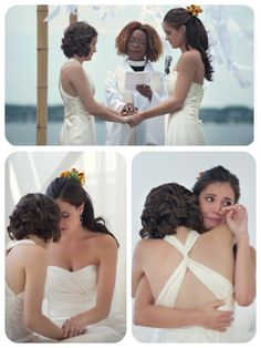 I keep finding all these cute lesbian brides and I get so cheesy and excited every-time. Lesbian Wedding, Wedding Pics, Dream Wedding, Wedding Bells, Wedding Ideas, Lgbt Love, Lesbian Love, Two Brides, Romance