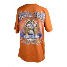 557ec7316a8 2018 Official Myrtle Beach Bike Week Eagle T-Shirt Orange Rust