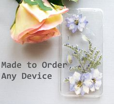 ~All new thicker, more durable iPhone cases!~    Pressed Flowers in Resin on a Clear Phone Case    Made to Order for iPhone 6 plus, 6, 5s, 5, 5c,